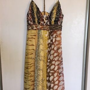 Embellished Silk Sue Wong Cocktail Dress